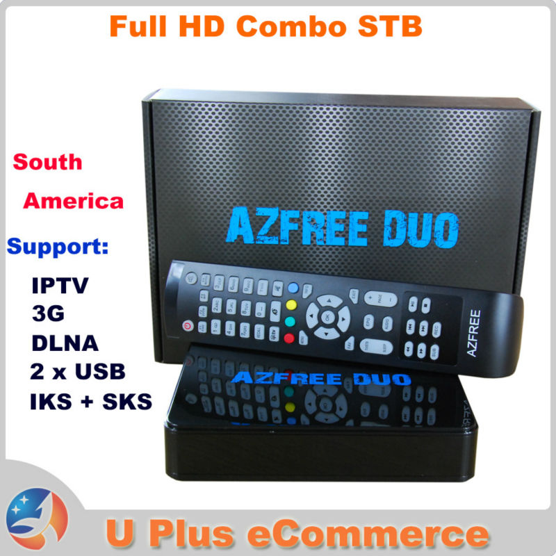 AZFREE DUO Full HD Digital Satellite Combo Receiver same as TOCOMFREE S929 DVB S/S2 MPEG 2/4 H.264 IKS + SKS South America IPTV(China (Mainland))