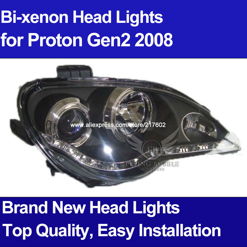 For Proton Gen2 Bi-xenon Modified Tuning Head lights Auto Car front Head lamps for replacement V1 type(China (Mainland))