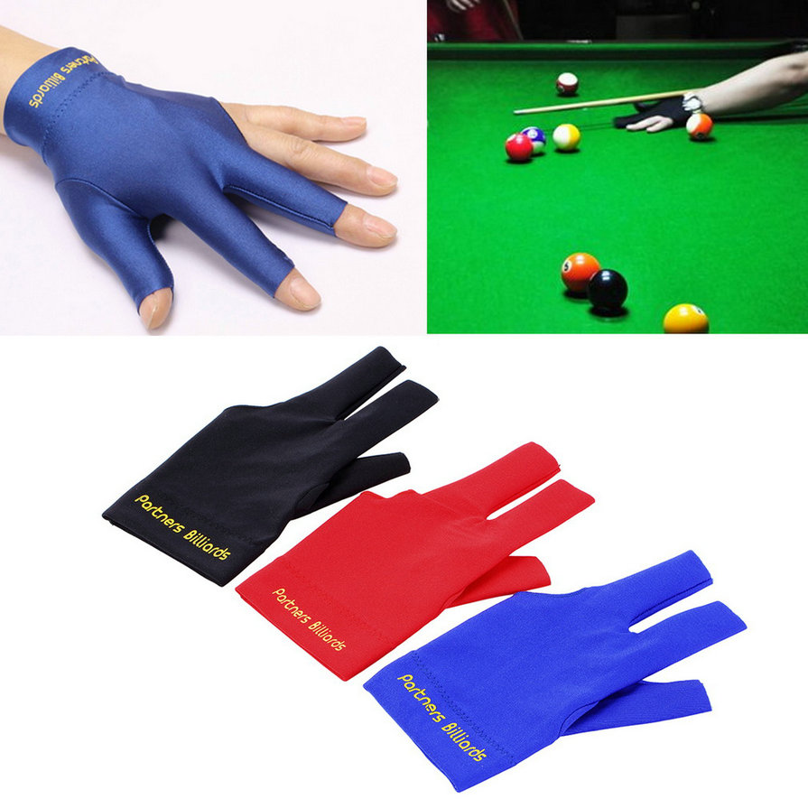 Spandex Snooker Billiard Cue Glove Pool Left Hand Open Three Finger Accessory new arrival(China (Mainland))