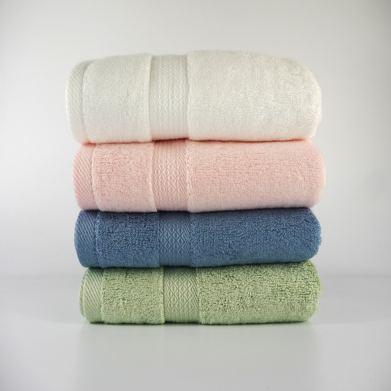 2015 Promotion New Knitted 5s-10s Home Beach Towels Bamboo Fiber Towels Thickening Large Towel Antibacterial Comfortable Soft(China (Mainland))
