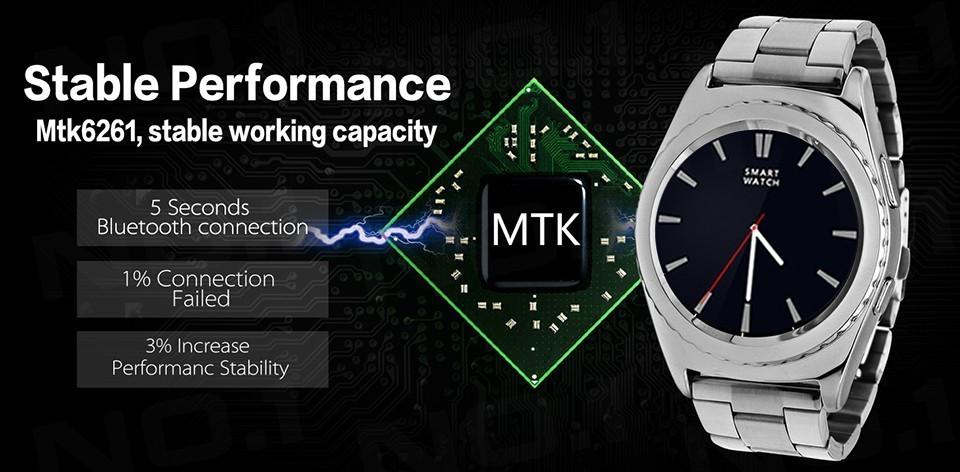 ถูก SIM Smartwatchหุ่นยนต์บลูทูธ3.0สมาร์ทสุขภาพหัวใจRate MonitorตรวจสอบอุณหภูมิPedometer PSGโทรศัพท์มือถือนาฬิกาข้อมือ