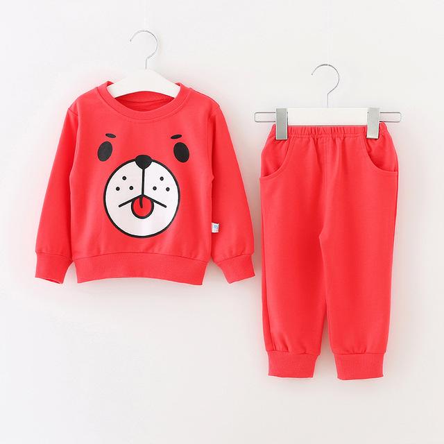 Малыш дети хлопок топы + брюки свитерshirt комплект одежды для 66 - 95 см высоты ...