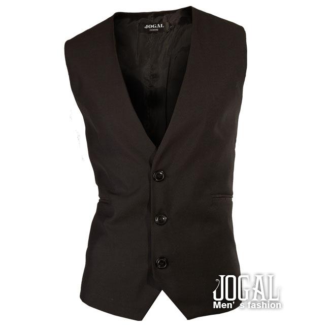 foreign trade banquet Slim models simple solid color gentleman black Vest 2456 - TO JO's store