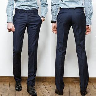 2016 весна / осень горячая распродажа мода брюки Slim Fit мужские бизнес брюки свободного покроя западного стиля брюки костюм брюки
