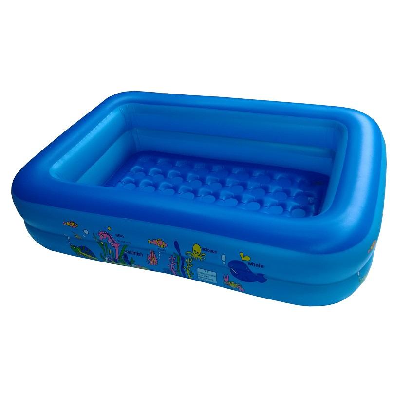 Hot Sale Blue Kids Plastic Swimming Pool 115X90X35cm(China (Mainland))
