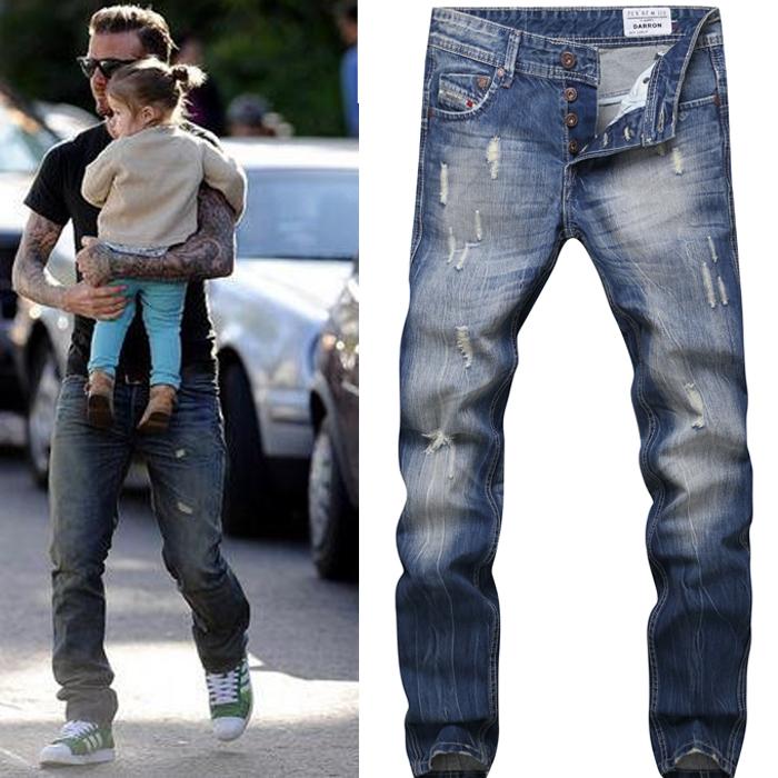 Adey david beckham jeans for men disel italy famous brand for David beckham t shirt brand