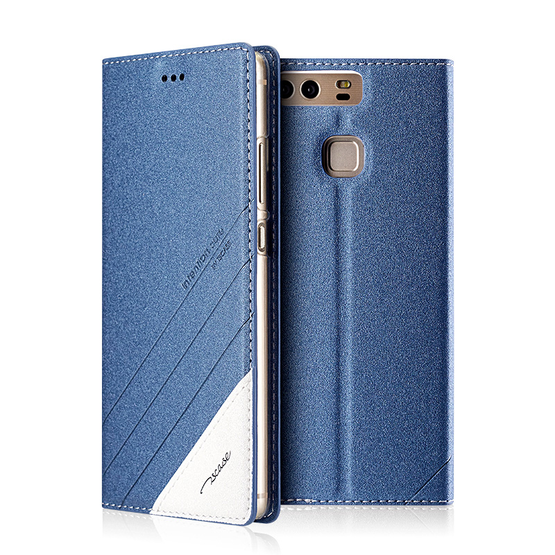 For Huawei P 9 Plus High Quality Simple Style PU Leather Magnetic Smart Phone Case For Huawei P9 Plus Luxury Mobile Phone Case(China (Mainland))