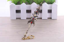 Buy Hot Game League Legends Online Weapon Alloy Keychains 17cm Cool LOL Jarvan IV Prince lance Keyholder Men Pendants for $3.51 in AliExpress store