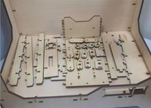 DIY Reprap extended volume Unofficial Replicator XL V1 5 3D printer laser cut wooden frame kit
