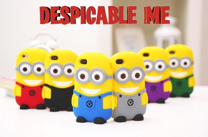 Despicable Minion 3d cartoon silicon Case Cover Iphone 4S&5&5S&5C - Elewelt store