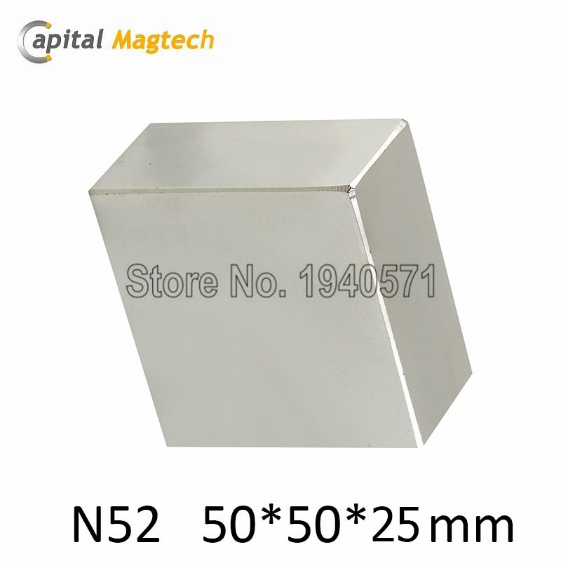 1pcs  Super strong  rare earth magnets  N52 Big Block 50x50x30mm  very powerful  with high quality <br><br>Aliexpress