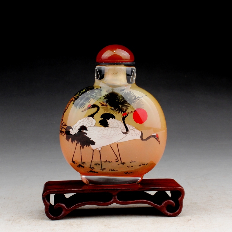 Special painting Amazing Chinese traddtional fork art inner painting crystal perfume bottle decorative crafts Novelty gifts(China (Mainland))