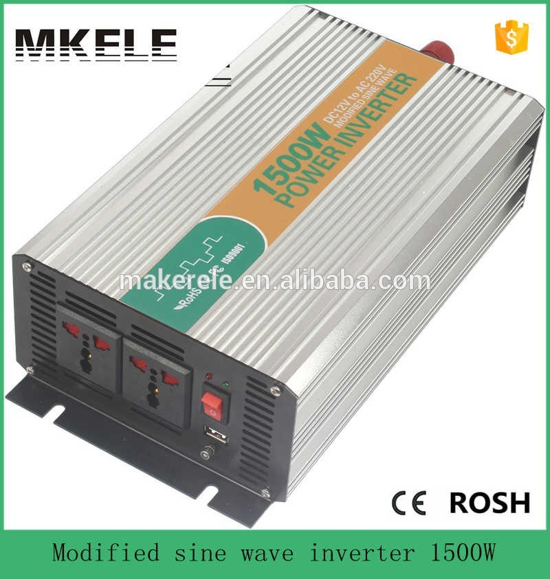Фотография MKM1500-122G modified sine wave tronic power inverter 12v 220v 1500w inverter spare parts for home application made in china