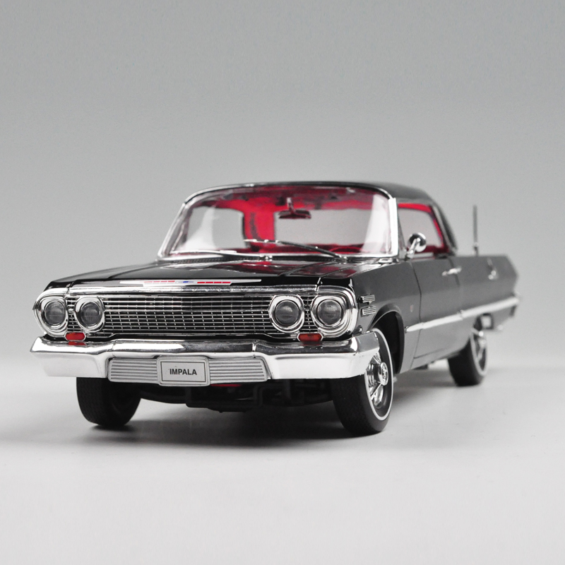WELLY 1/18 Scale USA 1963 Chevrolet Impala Diecast Metal Car Model Toy New In Box For Collection/Gift/Kids/Decoration(China (Mainland))