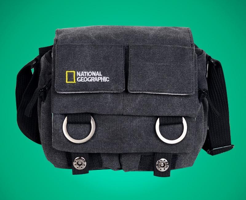 single-lens reflex camera bag Single-shoulder digital National Geographic Canvas bag for Nikon Canon Ordor(China (Mainland))