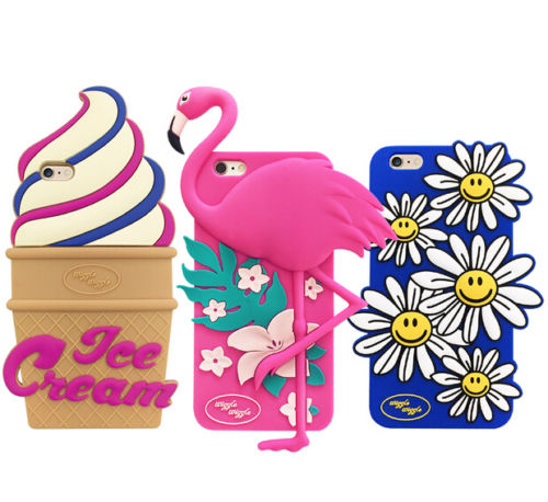 New Korean Wiggle Flamingo Sunflower Soft Phone Case For iPhone 5/5s 6 6s 6plus Free shipping(China (Mainland))