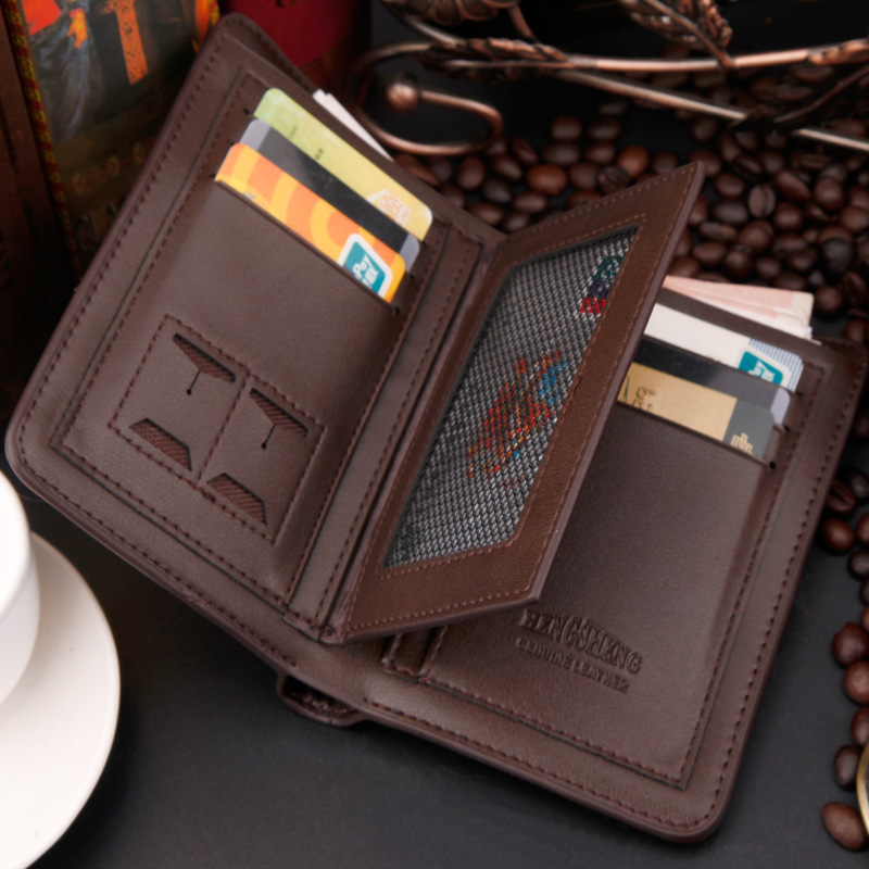 new 2015 men wallets leather male money zipper purses New Design Top short coin purse