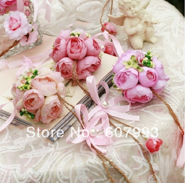 Artificial hanging tea rose ball,13.5cm diameter home wedding party festival decoration faux silk flower,10PCS/lot,Free shipping(China (Mainland))