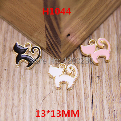 New animals Cartoon Volumes tails Cats alloy drop oil metal gold plated jewelry making earring/bracelet floating locket charms<br><br>Aliexpress