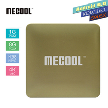 Buy MECOOL HM8 Android TV Box Amlogic S905X Quad Core 64 Bit Android 6.0 VP9 Profile RAM 1GB ROM 8GB 2.4G WIFI Smart Media Player for $22.68 in AliExpress store