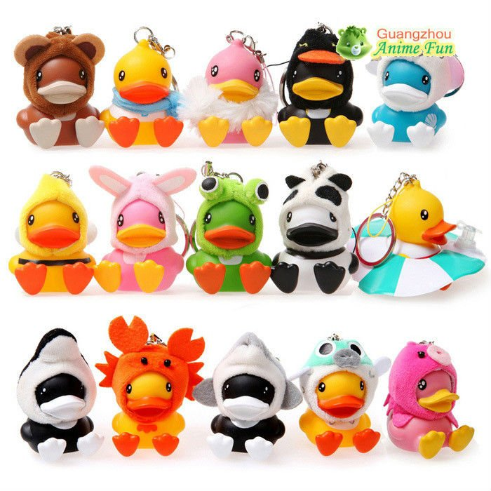 free shipping semk luft b duck toys, B.duck figure for Keychain/Pendant 15pcs/set  4CM Height  for xmas gift<br><br>Aliexpress