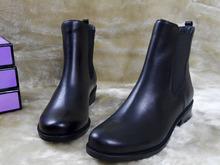 discount fashion genuine leather ankle flat motor black boots cork buckle strap Espana Classic Original women martin boots(China (Mainland))