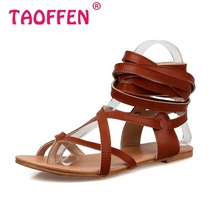 Size 30-50 Fashion Women Shoes Classic Design Gladiator Sandals Women Flat Shoes Bohemia Lace-Up Sandals Women Sandals PA00608(China (Mainland))