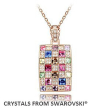 2016 Valentine's Day jewelry Rhinestone necklace jewelry fashion pendant With Crystals from SWAROVSKI good for gift(China (Mainland))