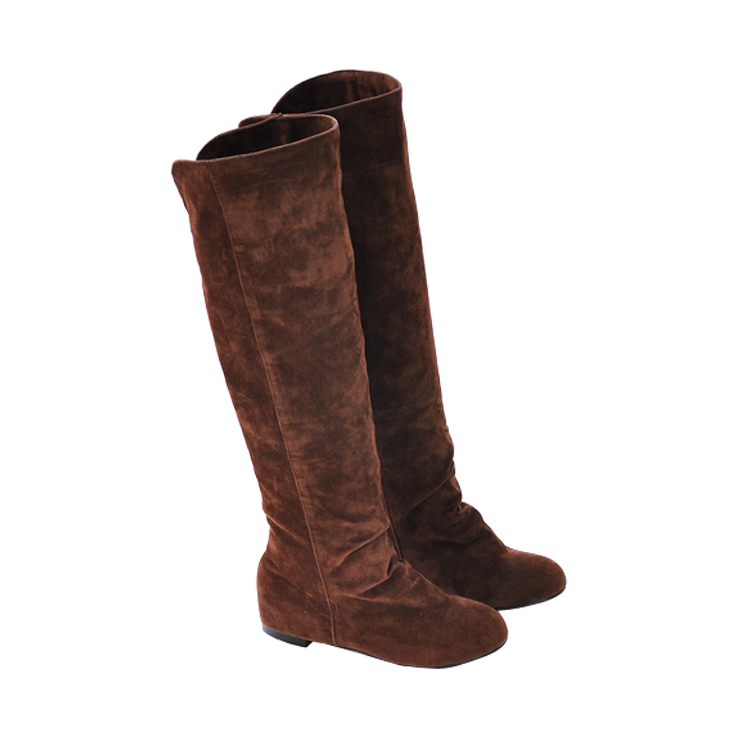 2015 single boots female spring and autumn boots high-leg flat boots flat heel autumn and winter scrub boots shoes