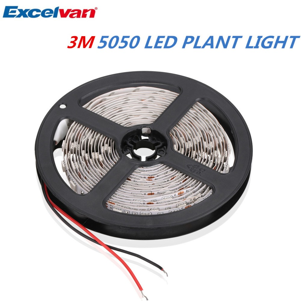 Excelvan 5050 LED Strip Grow Light Red and Blue DC12V Flexible Soft Plant Growing Strip Light for Indoor Plants Greenhouse(China (Mainland))