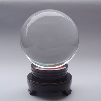4-50cm transparent crystal ball fountain ball home decoration accessories big Small the base