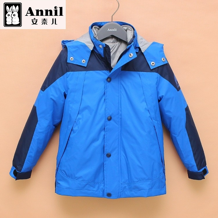 Annils winter 2015 boys detachable liner clip cotton jacket coat  AB545552 two colors Cotton-padded jacket<br><br>Aliexpress