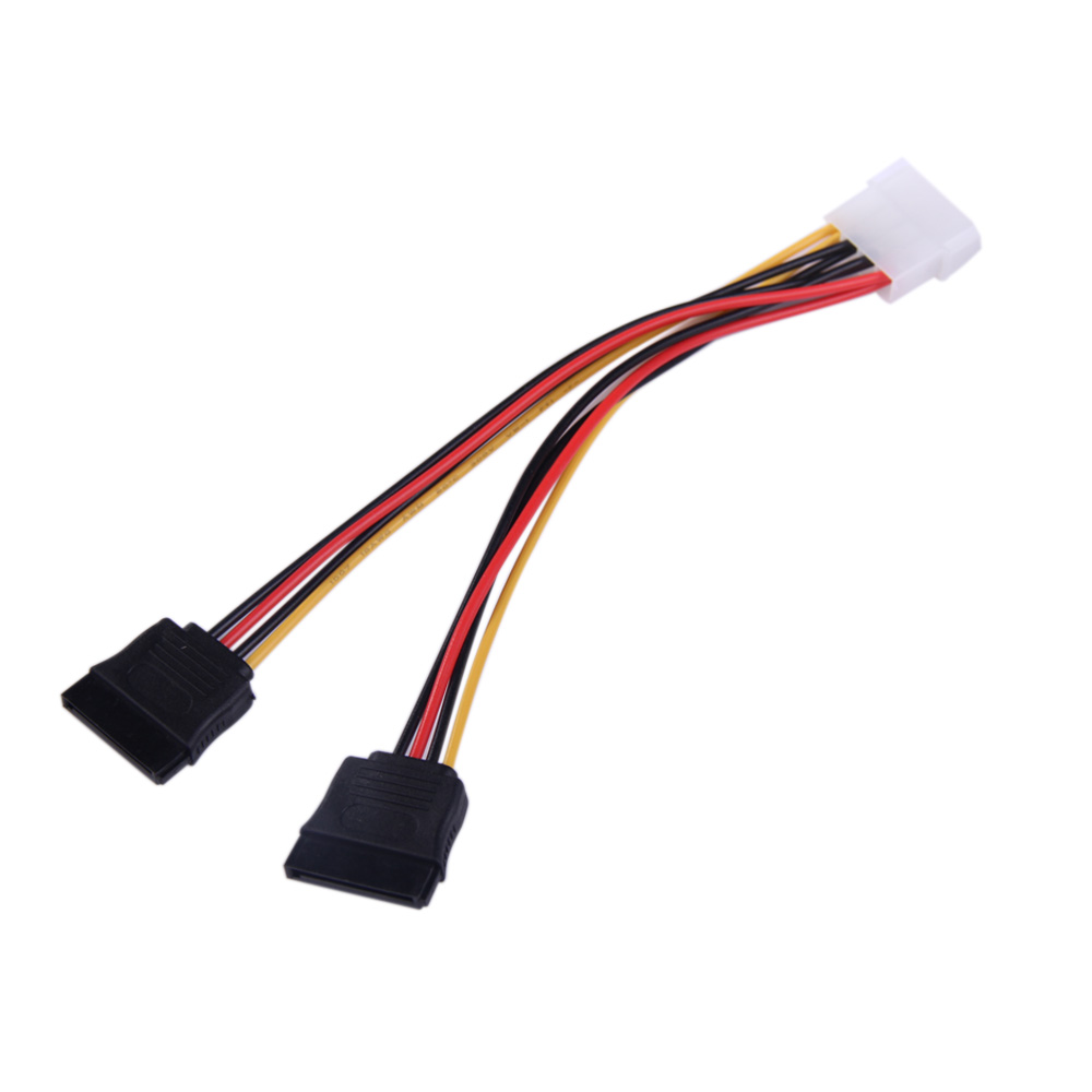 4Pin IDE to 2 Serial ATA SATA Y Splitter Hard Drive Power Adapter Cable BS88(China (Mainland))