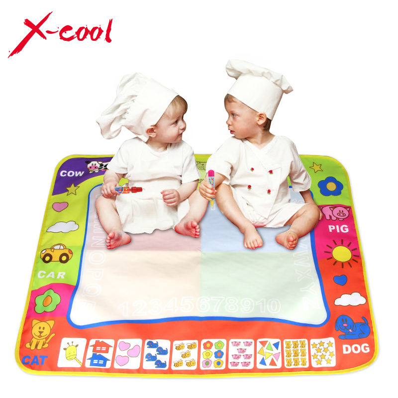 XC8807 80X60cm Children Aqua Doodle Drawing Toys 1 Painting Mat + 2 Water Drawing Pen Child's drawing board/drawing mat(China (Mainland))