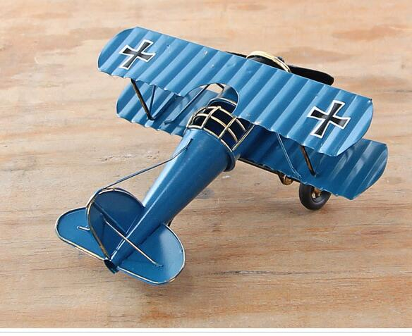 Vintage Iron Airplane Model Home Decor Nautical Decor Creative Metal Crafts Home Accessories Ornaments Mini Garden Decoration(China (Mainland))