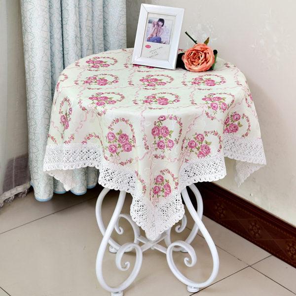 WJ hot selling pastoral flower printed tablecloth tea/dining tabl