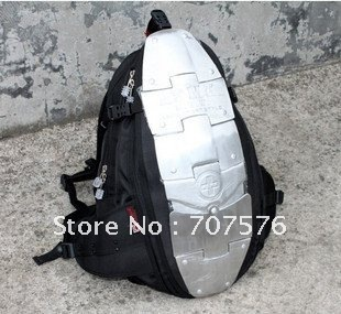 Dynamic Fashionable Hiking camping Travel Backpack ASMN Cool Leisure Bags /backpack Matal In 6 piece of aluminum Plates biggie