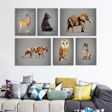 Buy Modern Abstract Animal Deer Bear Decorative Canvas Painting Art HD Print Poster Wall Picture Living Room BedRoom Home Decor for $3.54 in AliExpress store