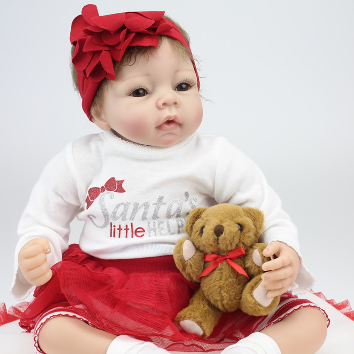 Кукла China brand 22/reborn Baby 55 22NPK6901 stuffed toys about 55cm npk bonecas silicone reborn baby dolls safe and big eyes for 22inch soft vinyl alive baby toy for girls