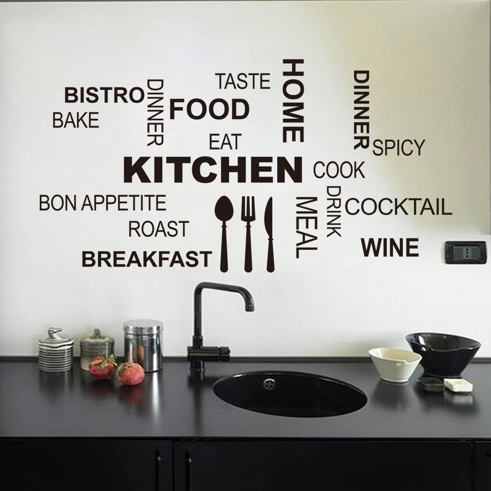 New Creative Vinyl Removable Kitchen Letter Quotes Wall Stickers Mural Decal Art Living Room Decoration
