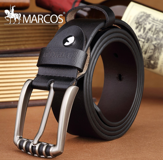 2016 Designer Belts Men High Quality Luxury 100% Real COW Leather Homme Cowboy H G belt(China (Mainland))