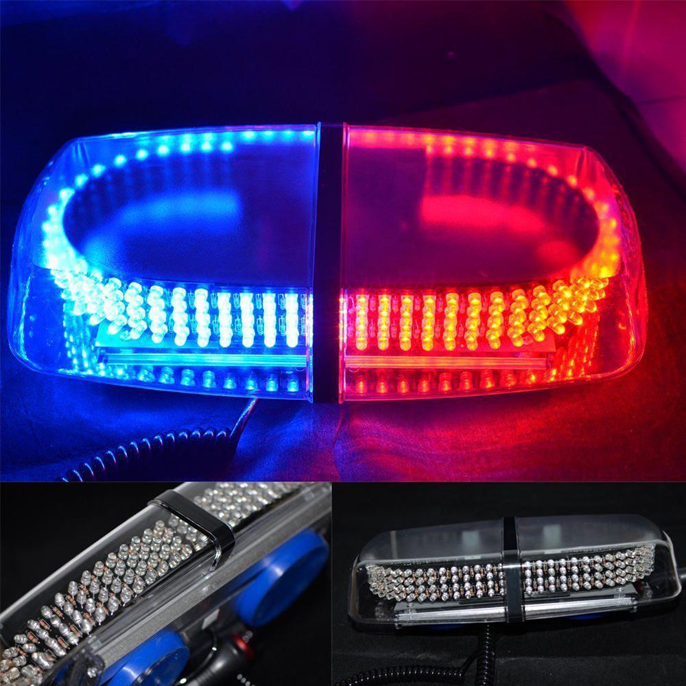 red blue 240 led emergency hazard warning led mini bar strobe light w. Black Bedroom Furniture Sets. Home Design Ideas