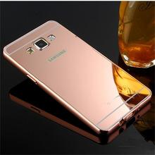 2015 For Samsung Galaxy A3 Case Luxury Mirror Metal Aluminum+Acrylic Hard Back Cover Phone Fundas Bag Accessory Capa Coque A3000