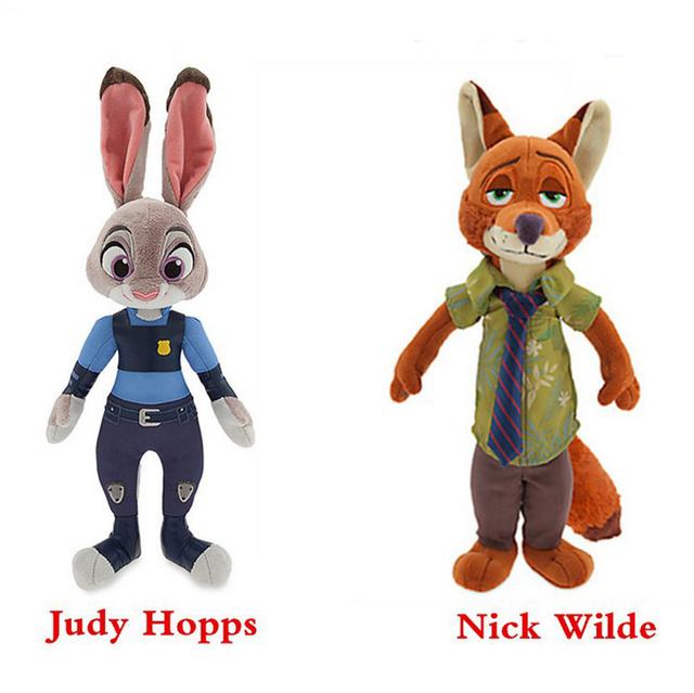 Утопия фигурку 2016 последний фильм Zootopia джуди Hopps ник уайлд милый плюшевые мягкие куклы и игрушки для детей подарок
