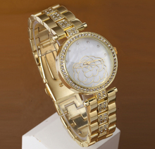 New Arrival Women Rhinestone dress Watches Geneva Steel gold Watches Fashion Gifts Quartz watch