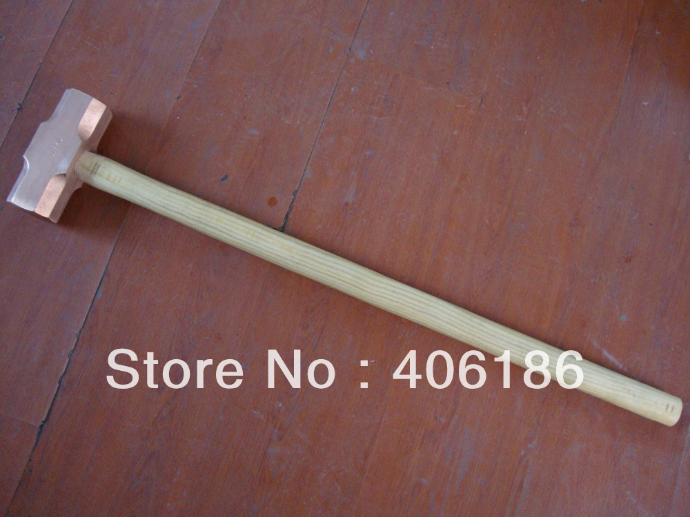 8.1kg/18lb Red Copper Sledge Hammer with Wooden Handle,Non-sparking Safety Hand Tool(China (Mainland))