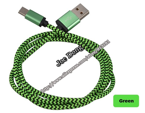 1pc 1M 3ft Type-C cable USB3.1 Data Sync Charging Cable Type C to USB-A 2.0 for Nokia Macbook ZUK xiaomi Leshi