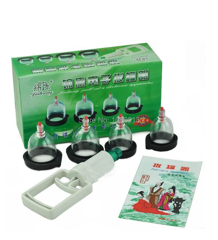 FREE SHIPPING Electronical Vacuum Cupping Set for Body Suction & Health Massage(China (Mainland))