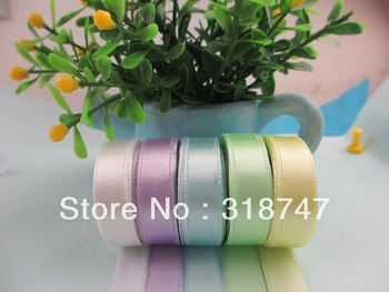 3/8'' (9.5-10mm) Mixed Colors Satin Ribbon 15y/lot 040007050