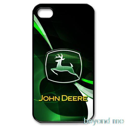 Green background John Deere Tractor Logo Head Hard Back Cover Case Cases for iPhone 4 4s 5 5s 5c 6 6plus(China (Mainland))